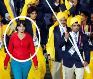 She spoilt the entire Indian march past in London Olympics